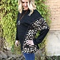 Leopard Side Panel Charcoal Top