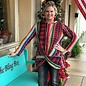 Serape Plaid Waffle Knit Long Sleeve Crossed Top