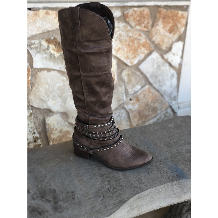 Very G Dixie Taupe Tall Boots