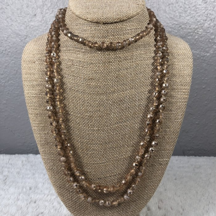 "Champagne Druzy 60"" Crystal Necklace"