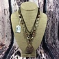 Rose Stone Beaded Leather Precious Stone Necklace