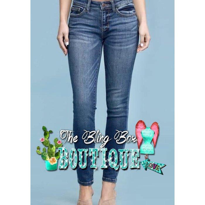 Judy Blue Skinny Fit Mid Rise Stretch Waist Jean