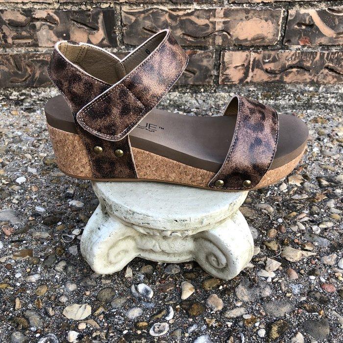 Slidell - Distressed Leopard Sandal