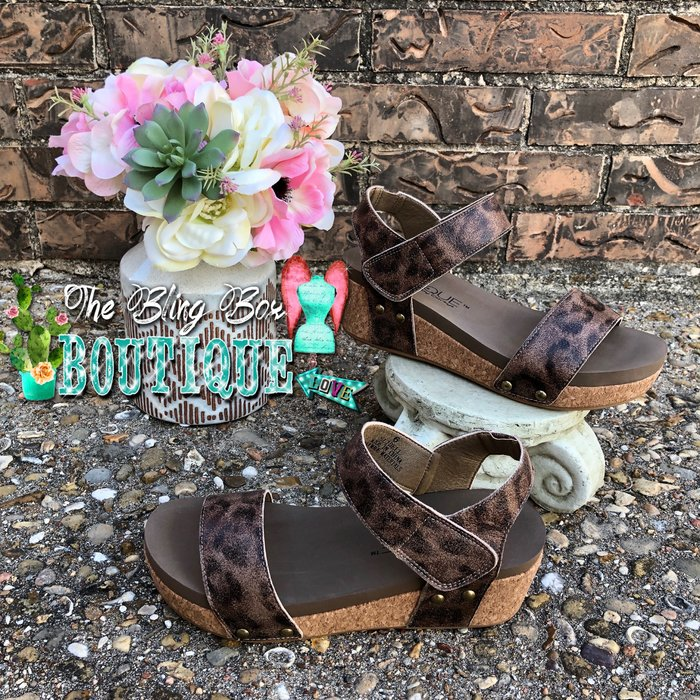 Slidell - Distressed Leopard Sandal