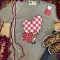 Valentine Plaid Heart V-Neck T-Shirt