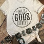 God's Country on Heather Grey T-Shirt