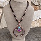 Copper Navajo Pearl AB Short Squash Blossom Necklace