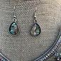Abalone Swirl Rhinestone Statement Necklace Set