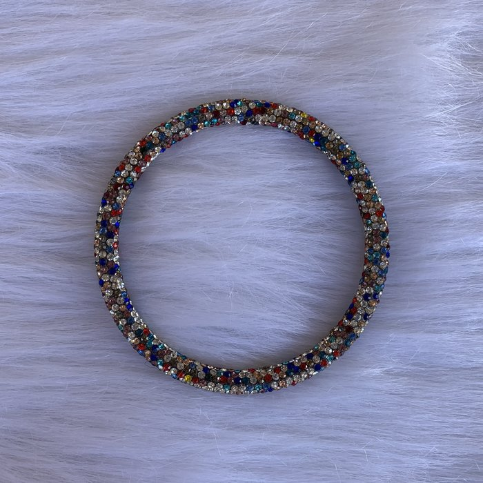 Multi Rhinestone Single Bangle Bracelet
