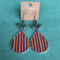 Serape Teardrop Turquoise Stone Earrings