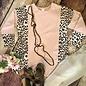 Dusty Pink Leopard Long Sleeve Blouse