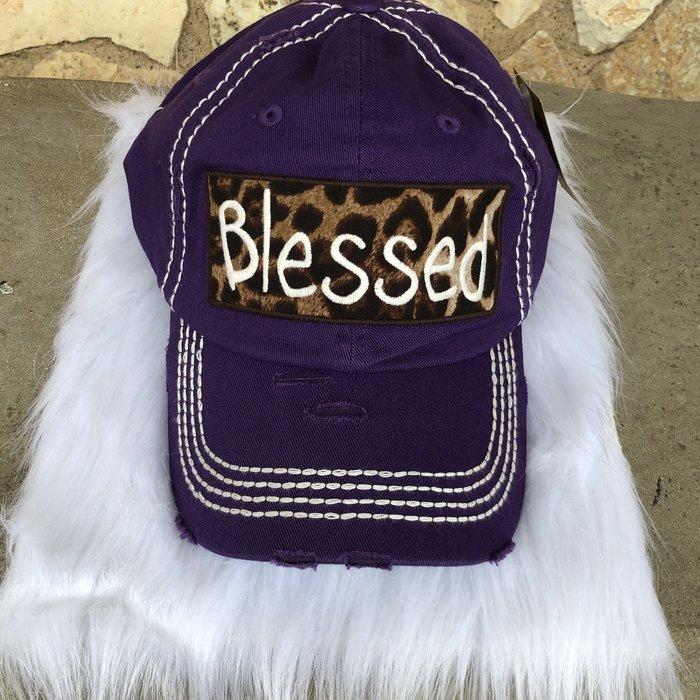 Blessed Leopard Purple  Ball Cap