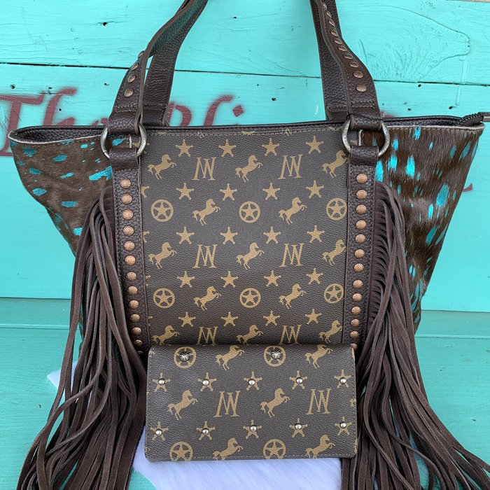 Signature Monogram Hair on Hide Tote