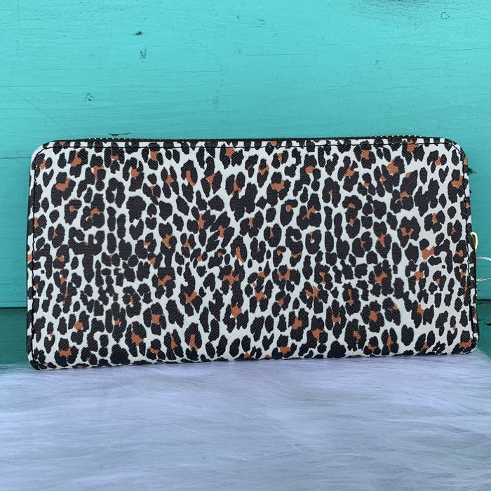 Leopard Print One Zip Wallet