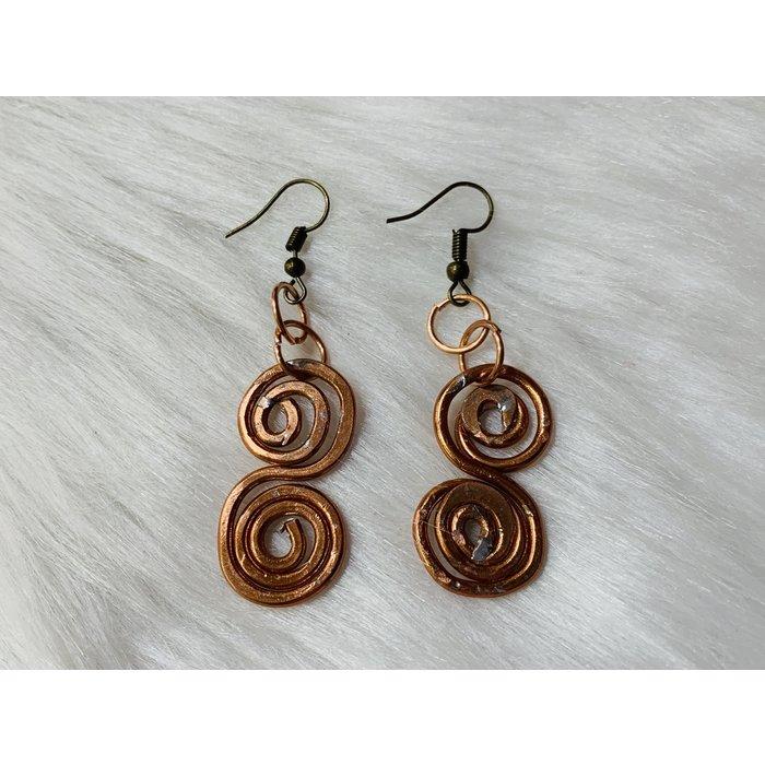 Bonnie Angela Custom Copper Swirl Earrings