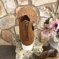 Ace Tan Suede Leopard White sole Sandal