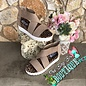 Ace Taupe Suede Leopard White sole Sandal
