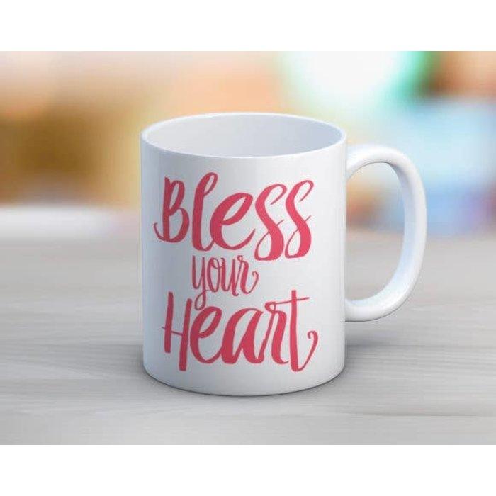 Pink Bless Your Heart 11oz mug