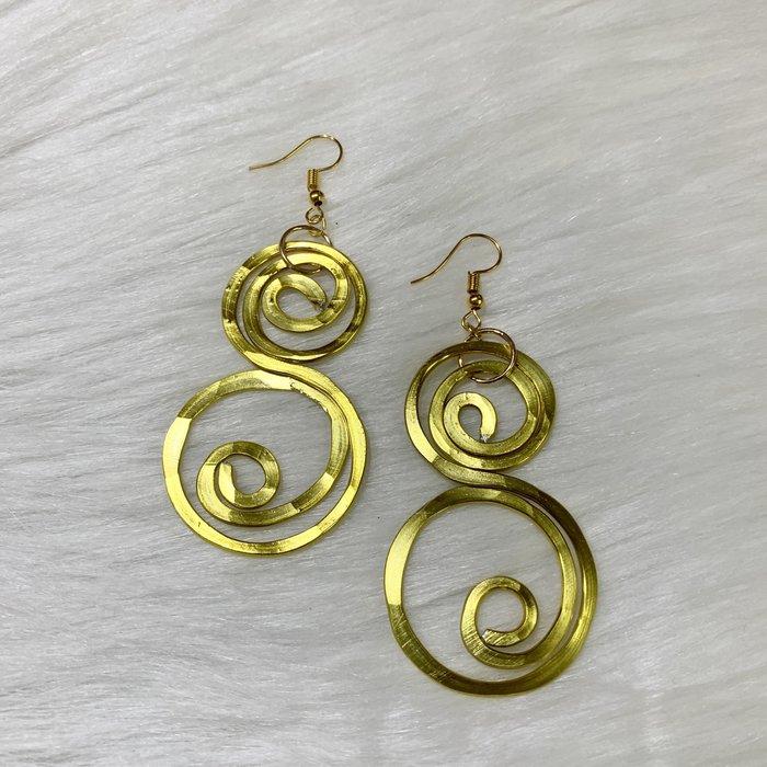 Bonnie Angela Gold Swirl Custom Earrings