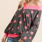Pink Heart V-Neck Sweater