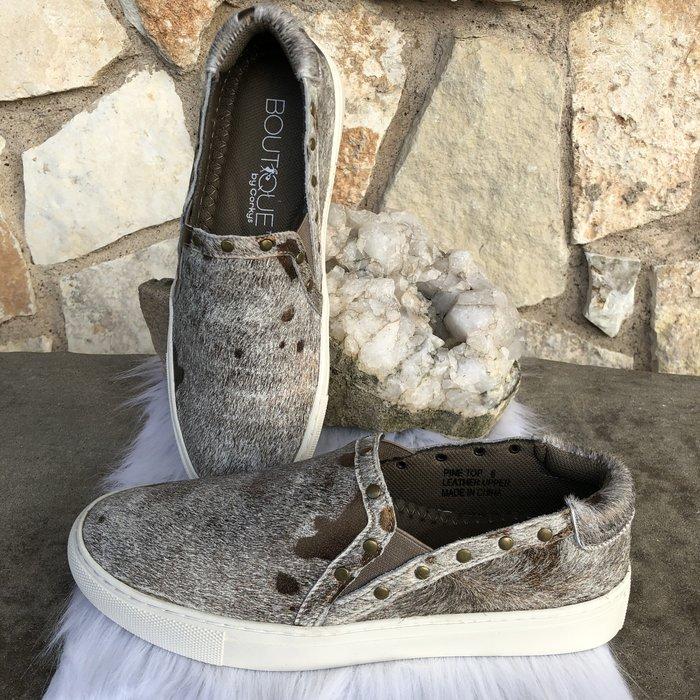Pine Top - Bronze Cowhide Sneaker