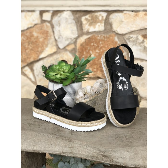 Black - Glossy White Bottom Sandal