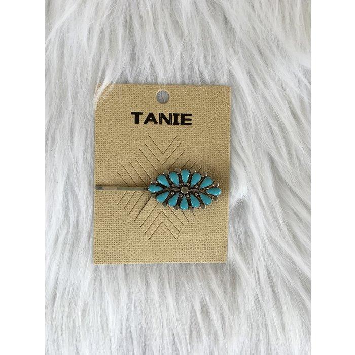 Turquoise Medallion Hair Barrette