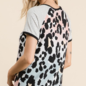 Multi Pink Leopard Striped Sleeve Top