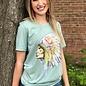 Watercolor Head Dress Indian Seafoam Green T-Shirt