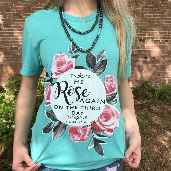 He Rose Again Mint T-Shirt