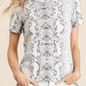 The White Snake Print Short Sleeve Top