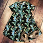 Black Turquoise Cactus Swing Dress with Pockets