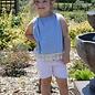 Distressed White Denim Shorts