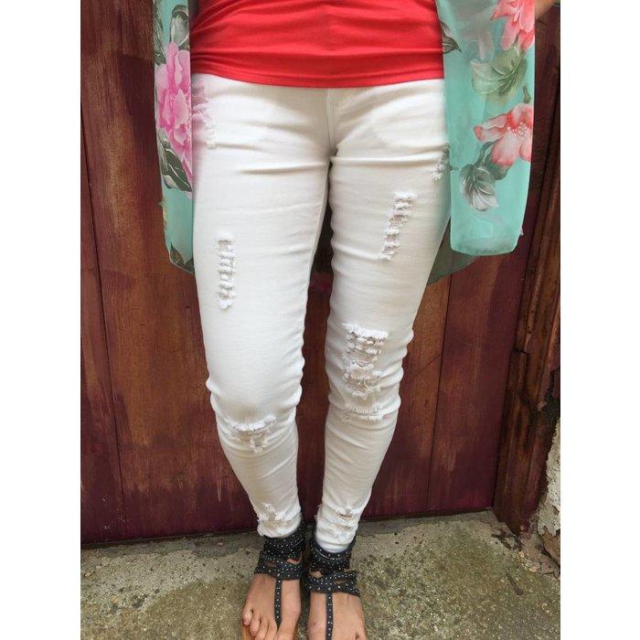 Joyrich Ankle Skinny - Destroyed White
