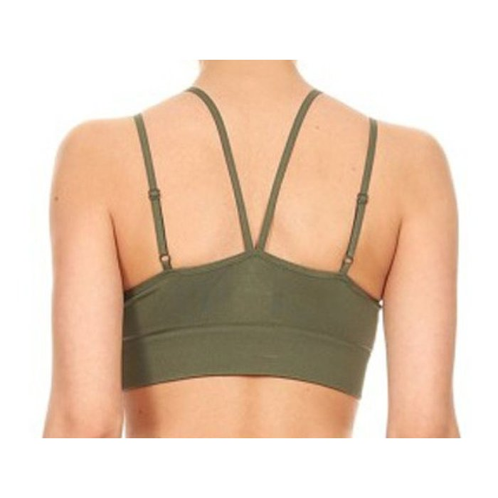Criss Cross Bra - Olive
