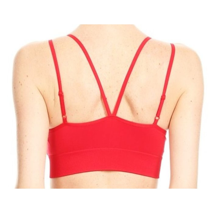 Criss Cross Bra - Red