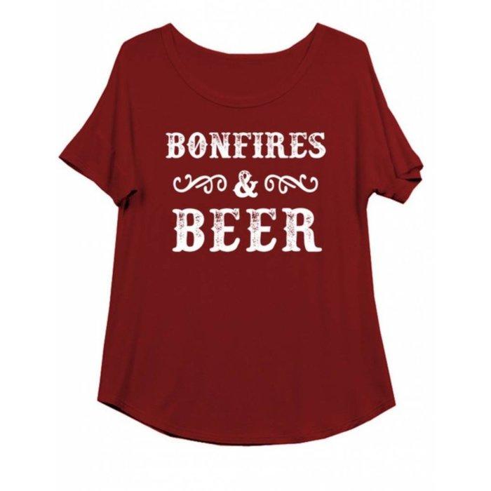 Plus Size Bonfires & Beer Top