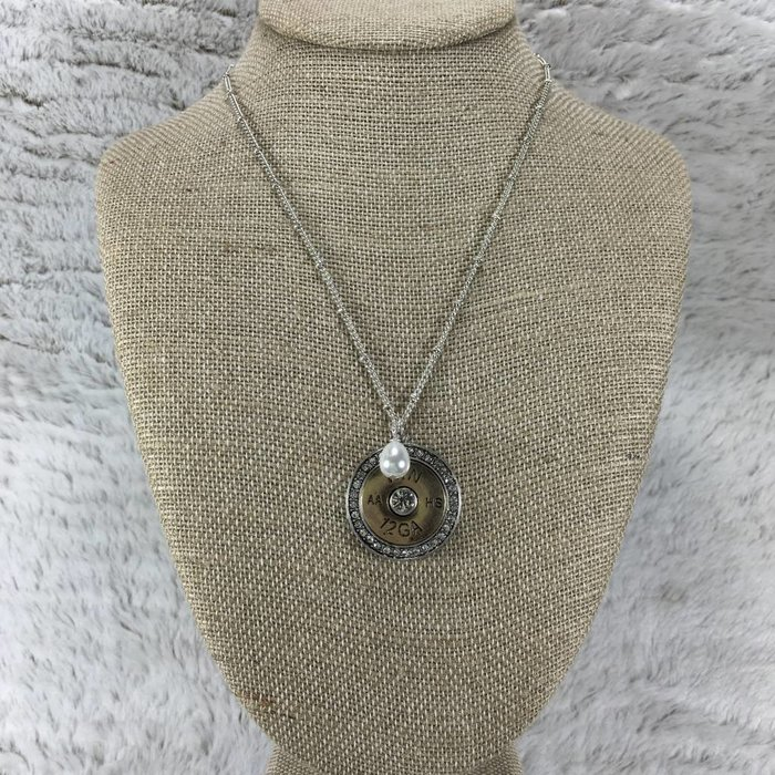 12 GAUGE Bling Round Necklace