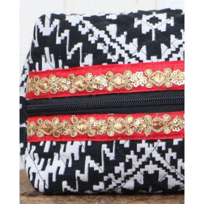 Jacquard Origami Makeup Bag