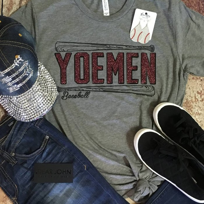 Glitter Yoemen Baseball Custom T-Shirt