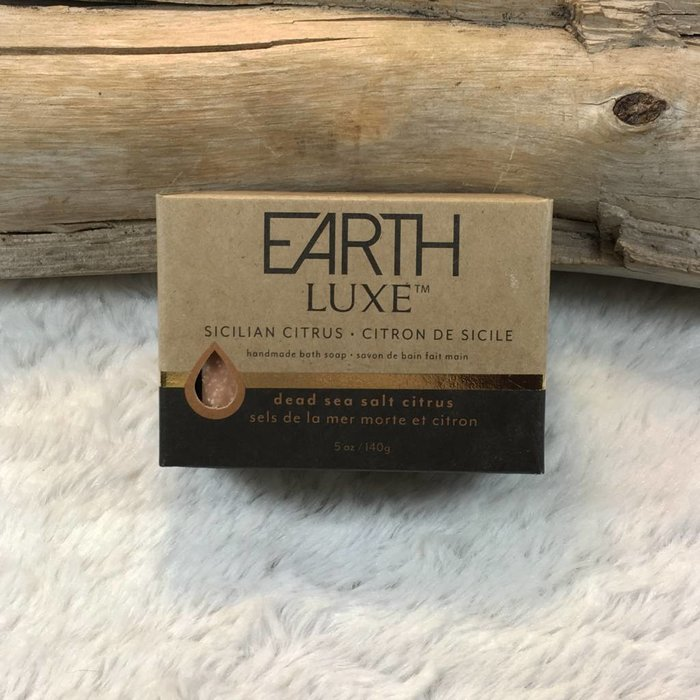 Sicilian Citrus Dead Sea Salt Exfoliating Spa Bar by Earth Luxe