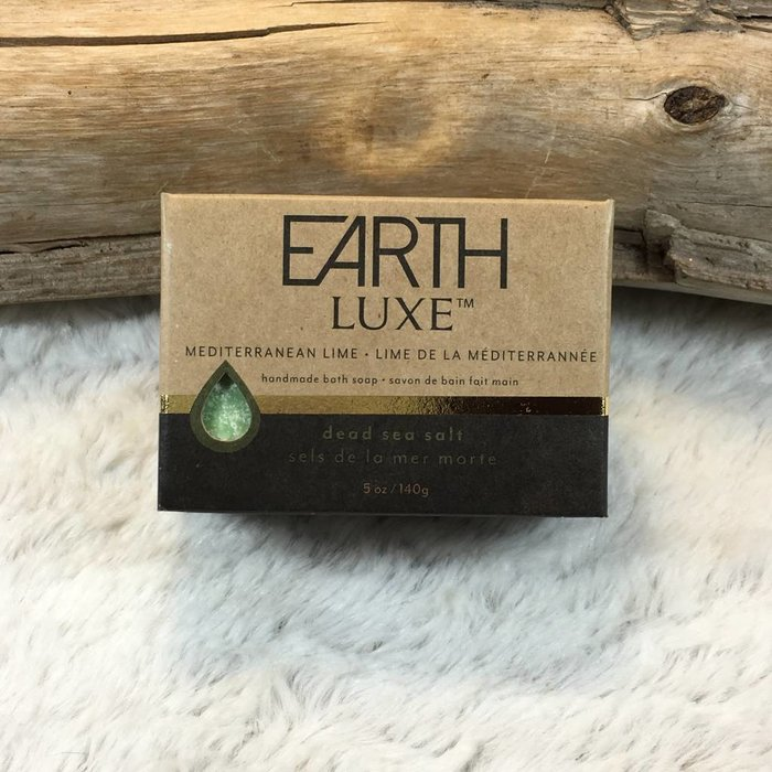 Mediterranean Lime Dead Sea Salt Exfoliating Spa Bar by Earth Luxe