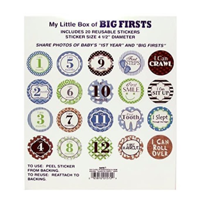 Boys Big Firsts Stickers
