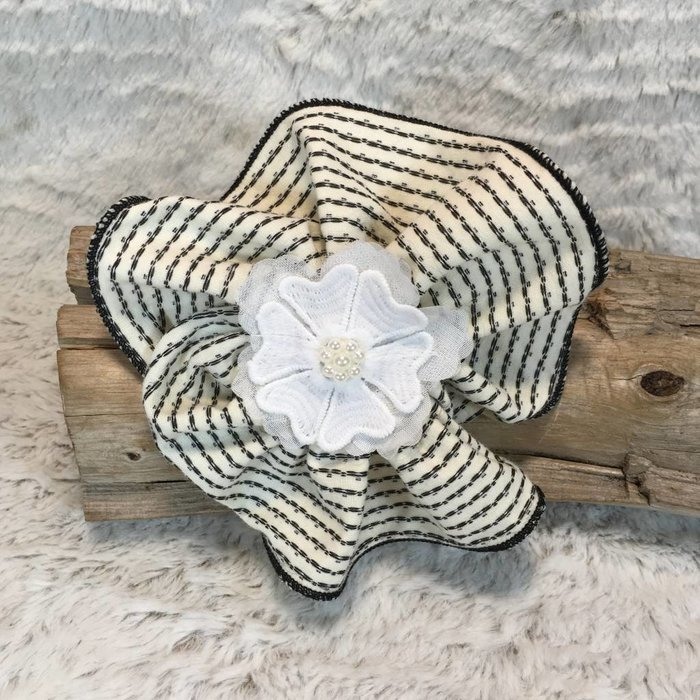 Polka Dot Striped Flower Baby Headband