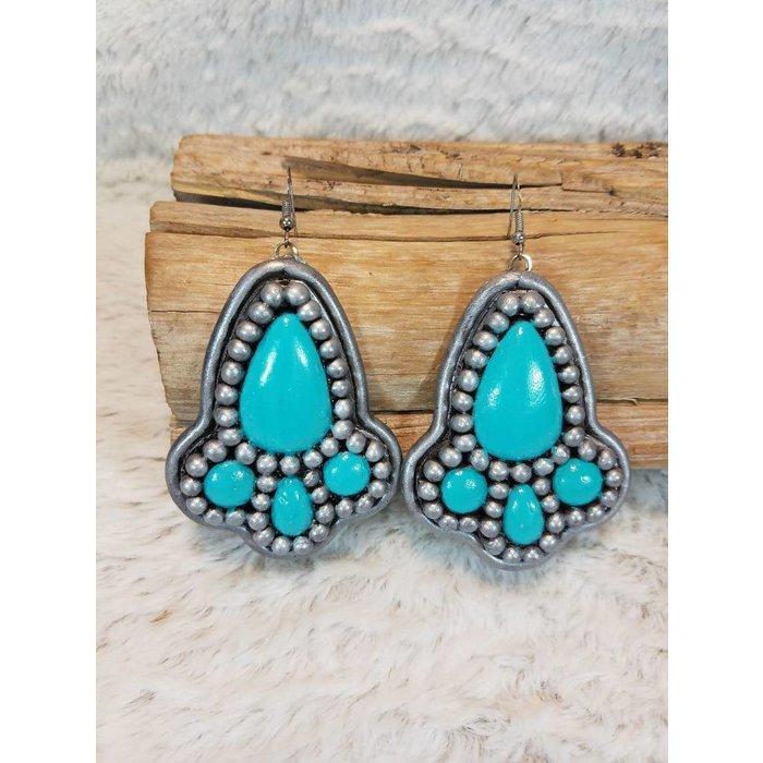 Jess Clay Silv/Turq Earrings
