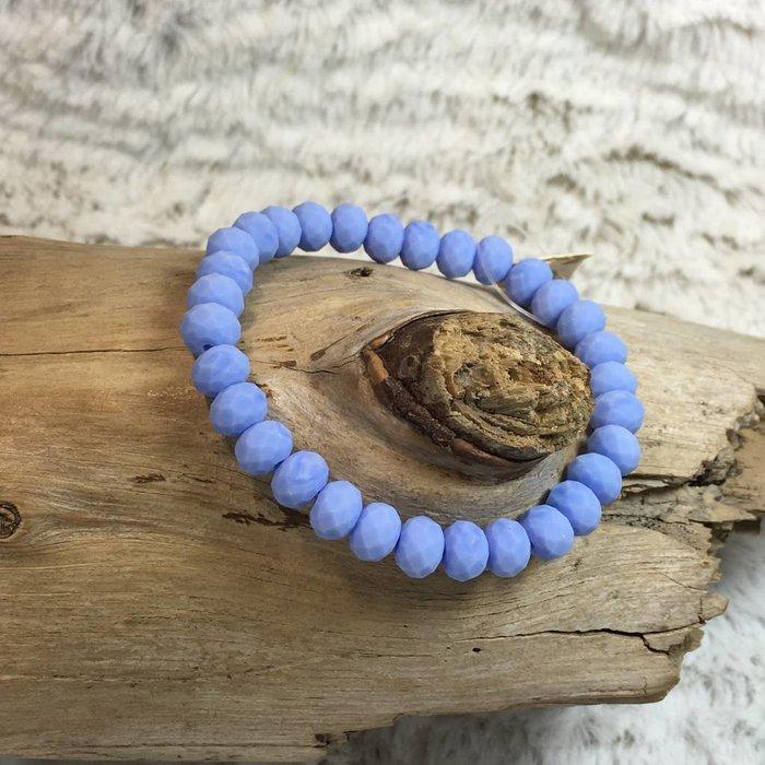 Country Blue Crystal Stretch Bracelet