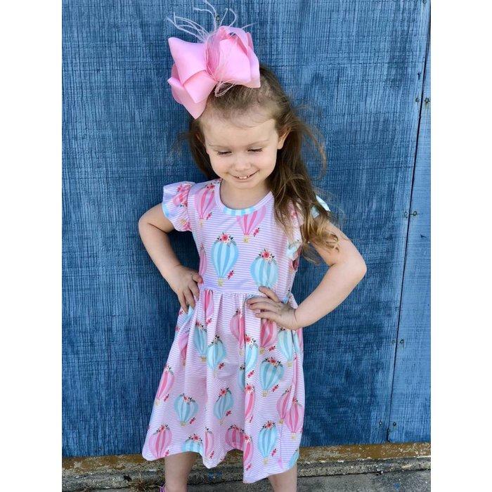 Kids Hot Air Balloon Print Dress