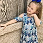 Blue Cactus Cold Shoulder Kids Dress