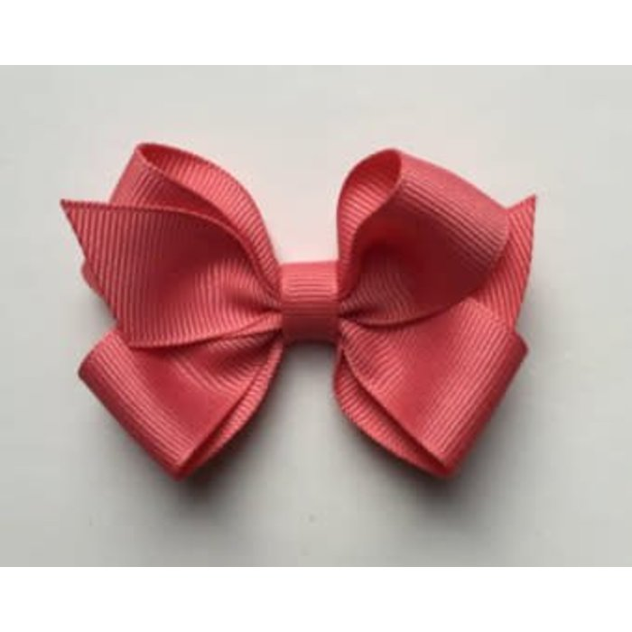 Small Coral Hair Bow