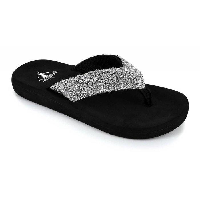 Windsor Silver Glitter Flip Flop